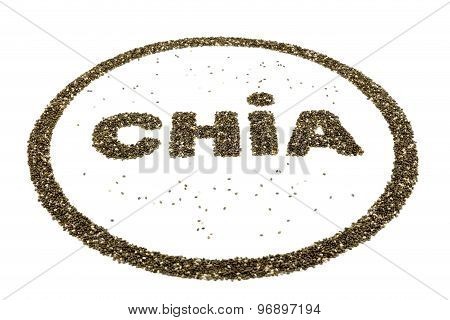 Word Chia As Logo Containing Chia Seeds