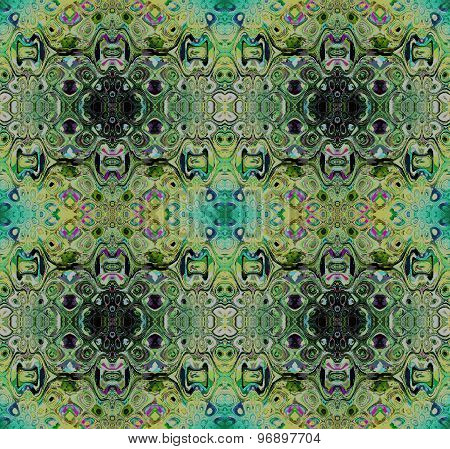 Seamless pattern turquoise black yellow