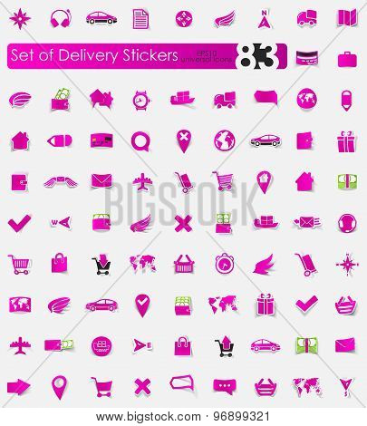 Set of delivery stickers