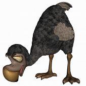 image of dodo  - 3 d render of a toon dodo - JPG