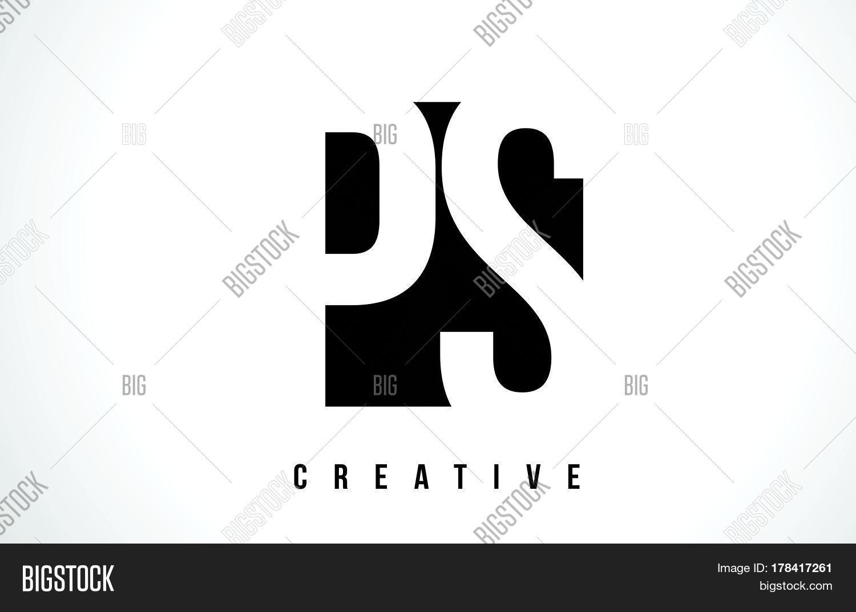 Ps p s white letter logo design vector photo bigstock ps p s white letter logo design with black square buycottarizona