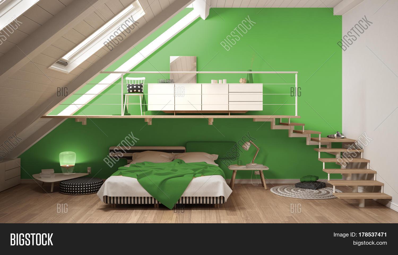 Imagen y foto loft mezzanine scandinavian bigstock - Foto mezzanine ...