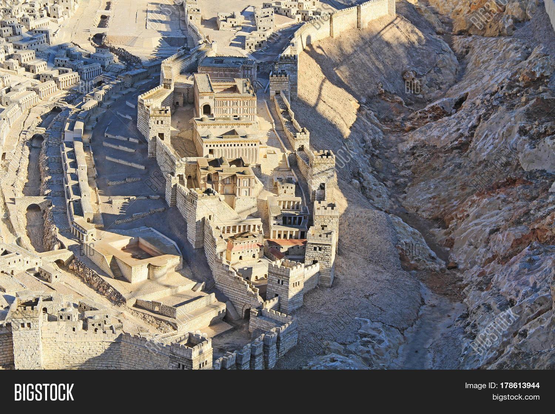 Model Ancient Jerusalem Time Second Image  Photo  Bigstock