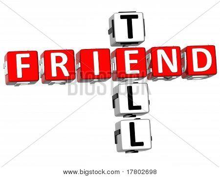3D Tell A Friend Crossword