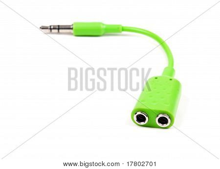 Green Audio Splitter