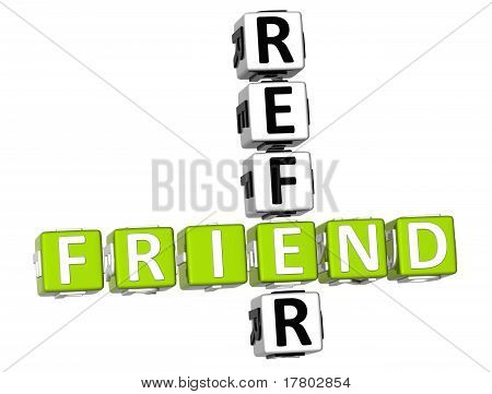 3D Refer A Friend Crossword