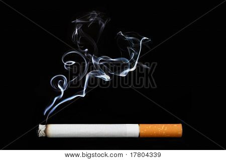 Object on black - cigarette