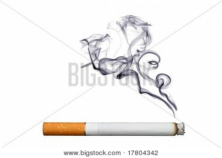 Objeto en blanco - cigarrillo