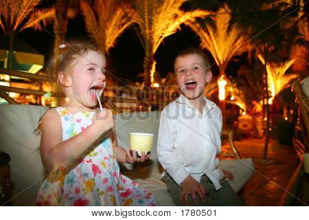 Children Eat Ice-Cream