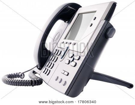Ip Telephone Isolated On White