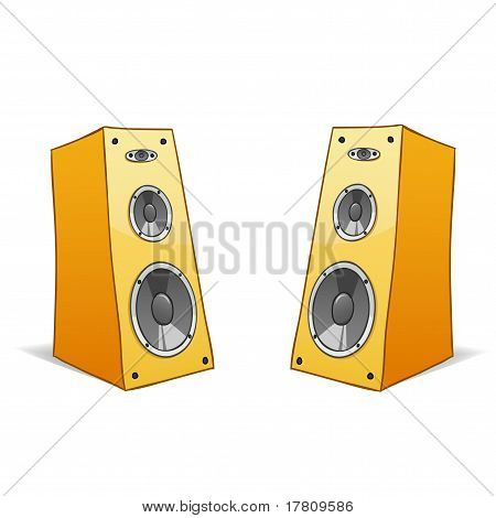 Two Vector Cartoon Speakers