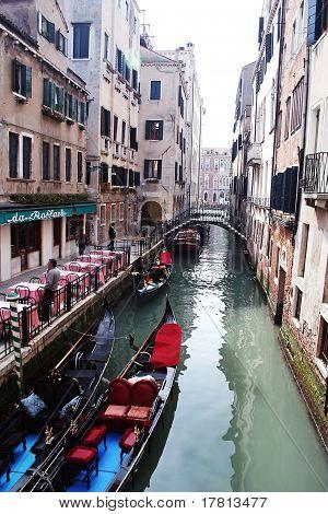 Gondola Waiting for Passengers, Venice, Italy