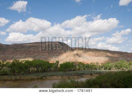 Gunnison River In Shadow