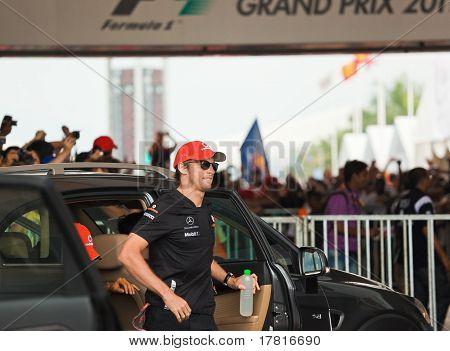 Formula 1, Gp Malaysia, Sepang, April 10 2011. Jenson Button, Team Mclaren Mercedes
