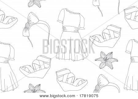 Handdrawn fashion seamless pattern.