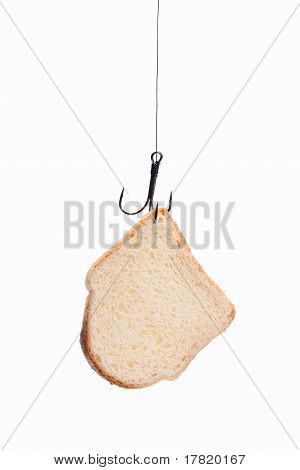 Piece Of Bread Hanging On Hook