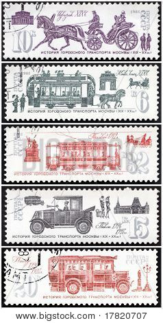 Stamp, ancient transport