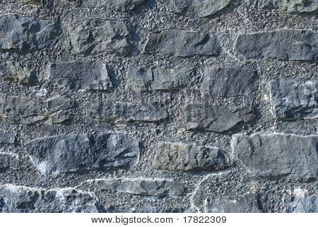 Dark stone abstract from perimeter wall of 16th century Elizabethan manor house