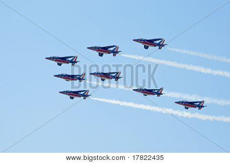 Zhukovskiy, Russia - 22 August, 2009: Civil Airplanes Making Aer