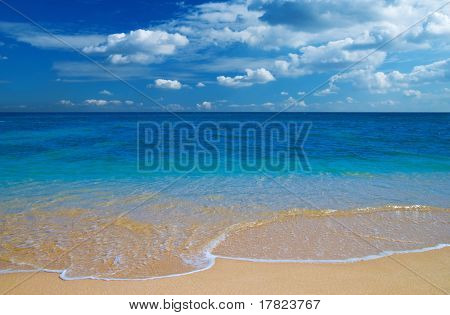 Tropical blue water beach paradise
