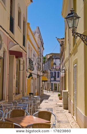 Quaint old street in Silves, Portugal