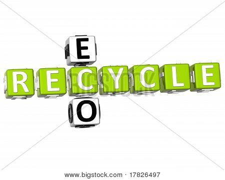 3D Recycle Eco Crossword
