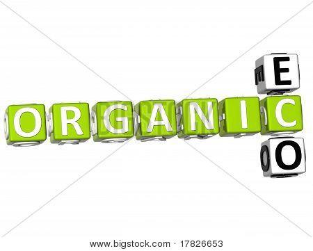 3D Organic Eco Crossword