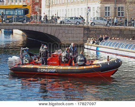 Danish Police On Boat