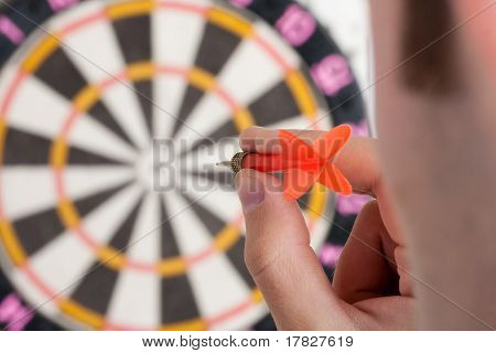 Businessman Aiming To Target