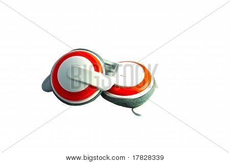 earphone orange
