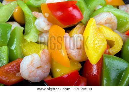 Shrimps and Bell Peppers