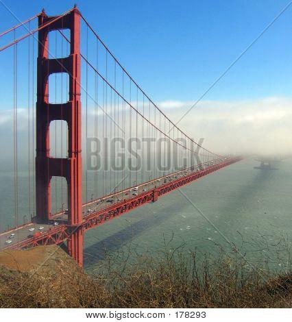 Golden Gate Bridge With Fog