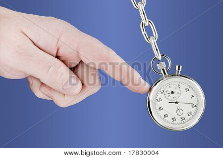 Stopwatch Pendulum And Hand