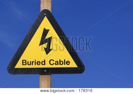 Yellow Electrical Hazard Sign