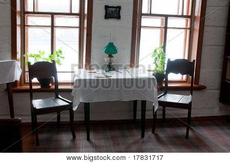 Interior of Lenin`s house
