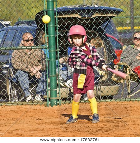 Young Girl Softball Player