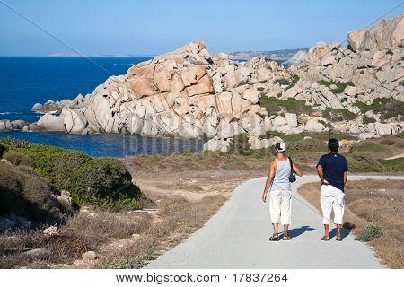 Tourists At Capo Testa, Sardinia