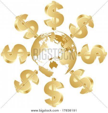 dollar symbol around the world