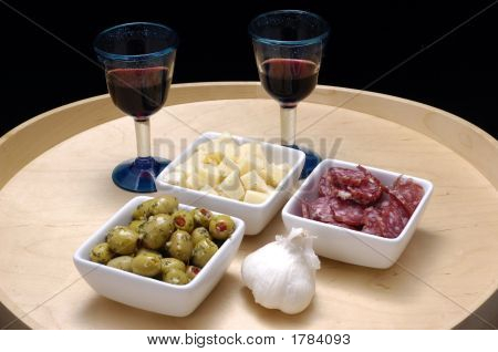 Tapas And Red Wine