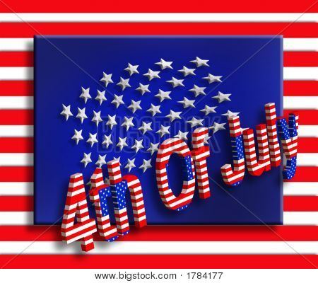 3D 4Th Of July Graphic