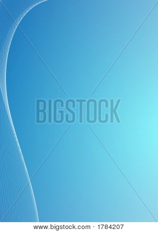 Curvy Blue Background