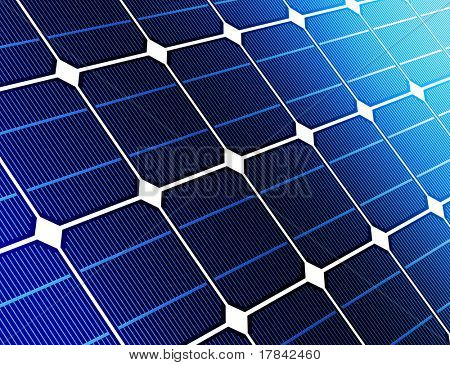 close up solar cell battery harness energy of the sun