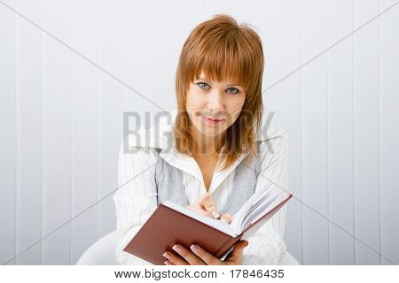 Business Woman With Book