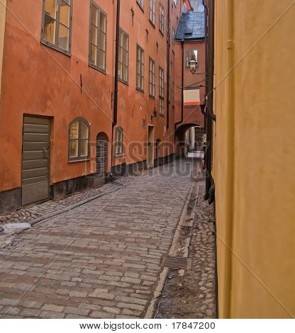 street of old town (Gamla Stan), Stockholm