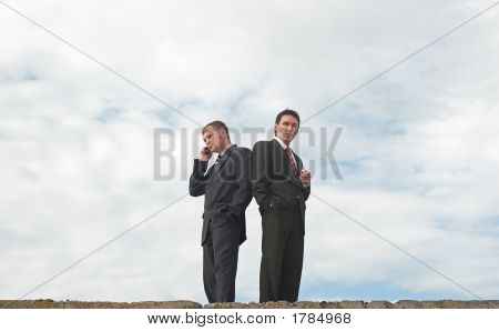 Businessmen Under The Skyes