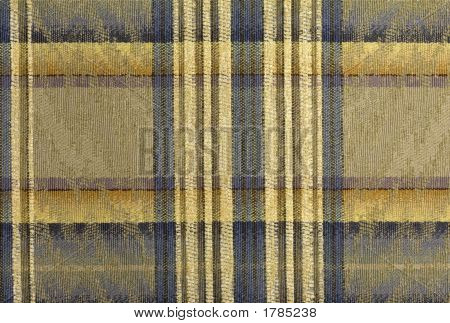 Blue And Gold Plaid Abstract Background