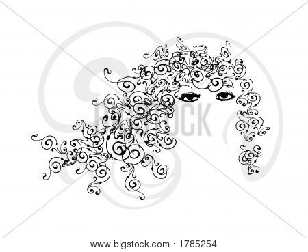 Curly Hair Fashion Girl