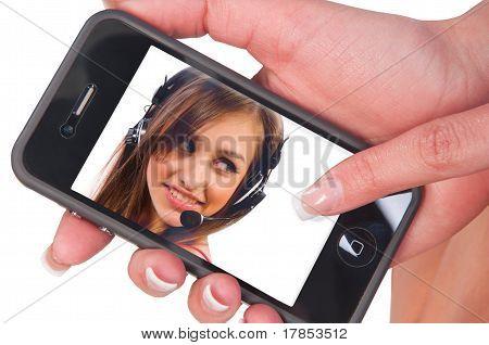 Pantalla de teléfono móvil con la imagen