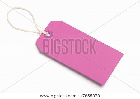 Pink Blank Tag