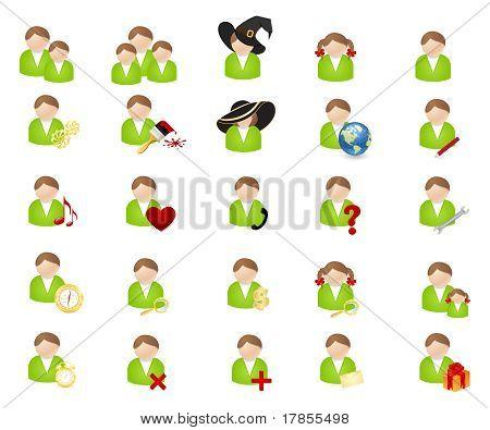 Conjunto de ícones-avatares